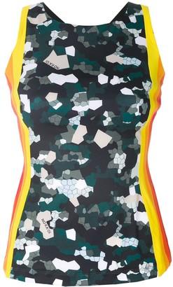 NO KA 'OI Striped Mosaic Camouflage Tank