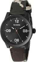 Nixon Women's A964047-00 G.I. Nylon Analog Display Quartz Multi-Color Watch