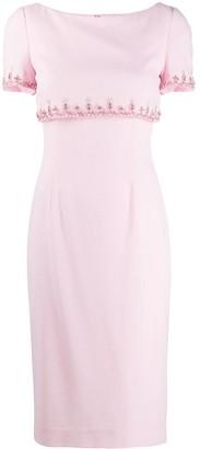 Goat Jacqueline bead-embellished dress