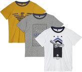 Armani Junior 3-pack Cotton T-shirts 4-16 Years