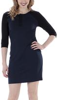 Midnight Bodycon Three-Quarter Sleeve Dress