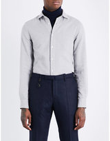 Boglioli Mesh-patterned regular-fit cotton shirt