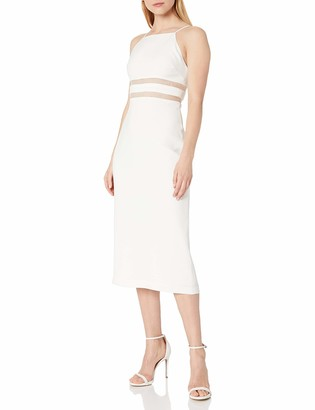 BCBGMAXAZRIA Women's Square Neck Evening MIDI Dress