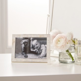 "The White Company Mother of Pearl Photo Frame 4x6"" , White, One Size"