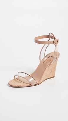 Aquazzura Minimalist 85mm Wedge Sandals