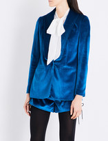 Self-Portrait Shawl-lapel velvet jacket