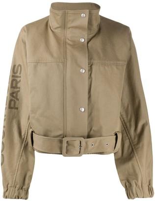 Courreges Belted Funnel-Neck Jacket