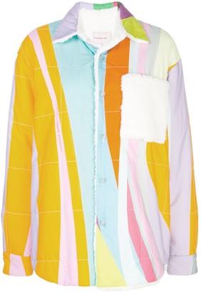 Natasha Zinko Oversized Teddy Rainbow Jacket