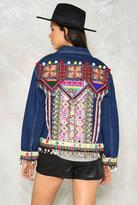 Nasty Gal nastygal Beads Me Denim Jacket
