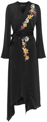 Etro Embroidered wrap dress