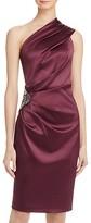 Eliza J Embellished One-Shoulder Dress