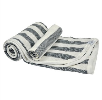 House Of Jude Hooded Turkish Towel and Wash Cloth Bundle Slate