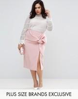 Coast Plus Lui Bow Detail Pencil Skirt