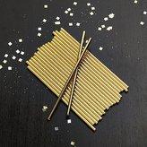 Crate & Barrel Party Gold Foil Straws, Set of 24