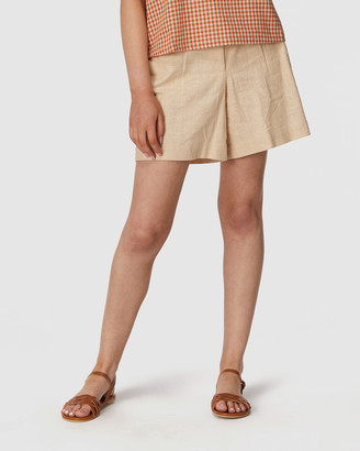 Princess Highway - Women's Yellow Chino Shorts - Beverly Shorts - Size One Size, 6 at The Iconic