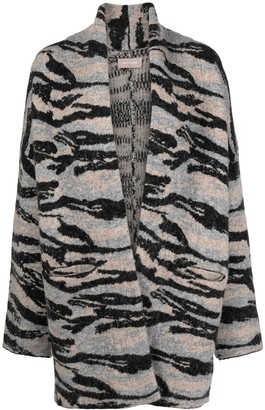 Zadig & Voltaire Camouflage-Pattern Long-Sleeve Cardi-Coat