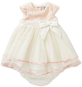 Rare Editions Baby Girls 12-24 Months Lace Bodice Tiered Dress