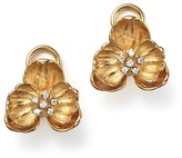 Michael Aram 18K Yellow Gold Small Orchid Stud Earrings with Diamond Accents