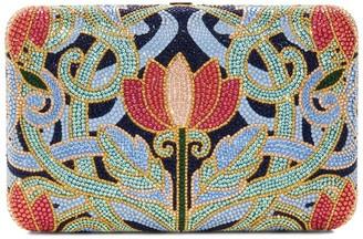 Judith Leiber Crystal Lotus Clutch Bag