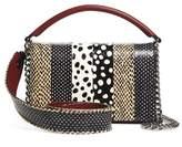 Diane von Furstenberg Bonne Soiree Leather & Genuine Snakeskin Top Handle Bag