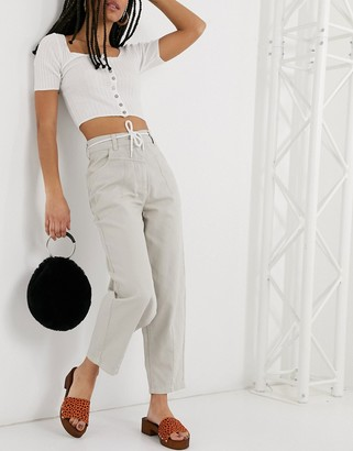 Topshop CONSIDERED pants in sand