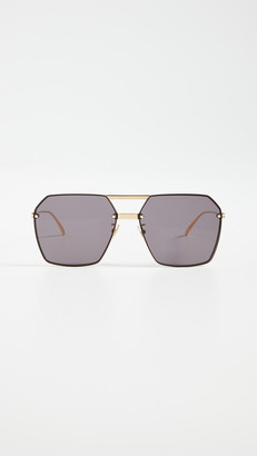 Bottega Veneta Oversized Geometric Aviators