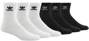 adidas Men's Originals 6-Pk. Logo Quarter Socks