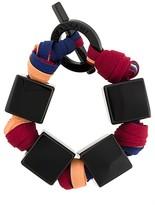 Square Charm Woven Bracelet