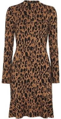 Whistles Animal Jersey Flippy Dress