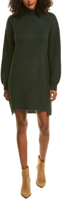 Ply Cashmere Balloon-Sleeve Cashmere Sweaterdress