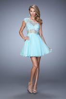La Femme 21992 Bedazzled One Shoulder A-line Dress