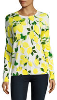Lord & Taylor Limoncello Printed Cardigan
