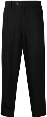 Ziggy Chen Creased Loose-Fit Trousers