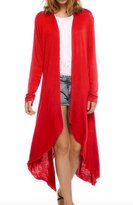 Elonglin Womens Long Sleeve Cardigan Asymmetric Lightweight L