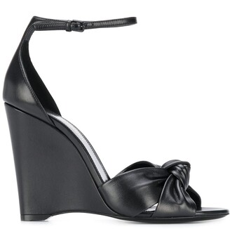 Saint Laurent Knot Detail Wedge Heel 105mm Sandals