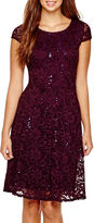 Ronni Nicole RN Studio by Cap-Sleeve Lace Fit-and-Flare Dress