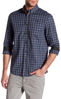 Kenneth Cole New York Long Sleeve Slim Fit Plaid Shirt