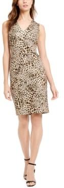 Calvin Klein Animal-Print Sheath Dress