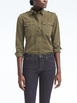 Banana Republic Dillon-Fit Denim Utility Shirt