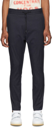 HUGO Blue Pinstripe Zander Trousers