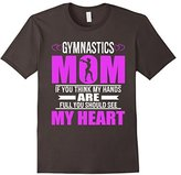 Kids Gymnastics Moms Full Heart Mothers Day T-Shirt 8