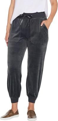 AnyBody Petite Velour Jogger Pants