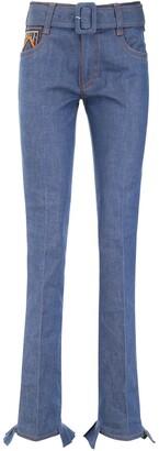 Prada Belted Logo Jeans