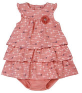 Petit Lem Baby Girls Funky Printed Dress and Diaper Cover