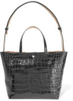 Elizabeth and James Eloise Croc-effect Leather Tote - Black