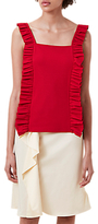 Finery Crescent Ruffle Cami Top, Red