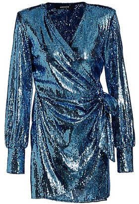 Andamane Carly Sequin Wrap Dress