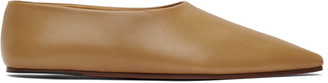 The Row Tan Square Toe Pump Flats