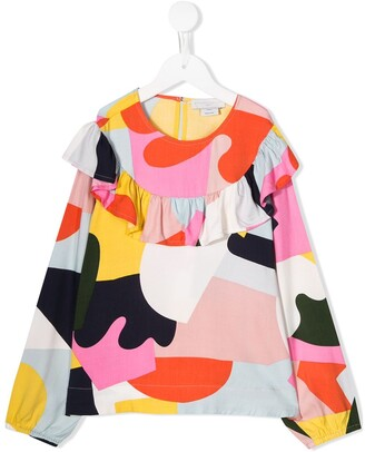 Stella McCartney Geometric Color Block Top