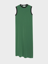 DKNY Slip Dress With Seaming Detail And Rib Trim